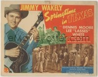 3x438 SPRINGTIME IN TEXAS TC '45 Jimmy Wakely facing bad guys & playing guitar with band!