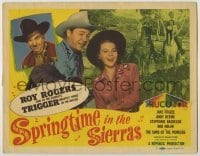 3x439 SPRINGTIME IN THE SIERRAS TC '47 Roy Rogers & Trigger, pretty Jane Frazee, Andy Devine