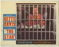 3x917 STAR LC #4 '53 best image of Hollywood star Bette Davis screaming behind prison bars!