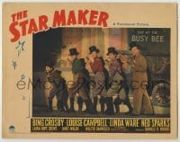3x918 STAR MAKER LC '39 Bing Crosby performing on stage with four young boys in top hats!