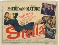 3x448 STELLA TC '50 sexy Ann Sheridan is trying to be good to Victor Mature!