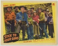 3x920 STICK TO YOUR GUNS LC '41 William Boyd as Hopalong Cassidy, Andy Clyde, Jacqueline Holt & more