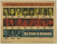 3x451 STORY OF MANKIND TC '57 Groucho & Harpo Marx, Vincent Price, plus many other star portraits!
