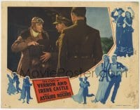 3x922 STORY OF VERNON & IRENE CASTLE LC '39 pilot Fred Astaire takes box from two officers!