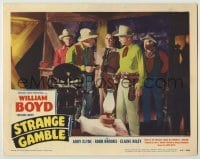 3x923 STRANGE GAMBLE LC #8 '48 William Boyd as Hopalong Cassidy threatens man at gunpoint!