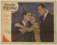 3x925 STRICTLY PERSONAL LC '33 super young Louis Calhern glares at Eddie Quillan & Dorothy Jordan!