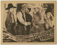 3x927 SUNDOWN TRAIL LC '34 cowboy hero Wally Wales protects Fay McKenzie from three bad guys!