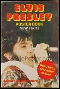 3y020 ELVIS PRESLEY softcover book '77 full-color poster images with the King of Rock 'n' Roll!