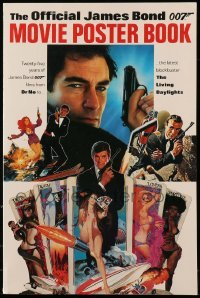 3y023 OFFICIAL JAMES BOND 007 MOVIE POSTER BOOK softcover book '87 full-page & full-color!
