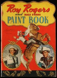 3y025 ROY ROGERS die-cut softcover book '50 cool Paint Book with Dale Evans & Trigger!