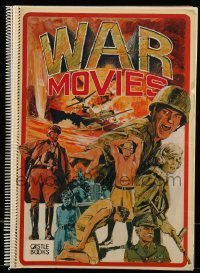 3y028 WAR MOVIES softcover book '74 spiralbound with images from The Kobal Collection!