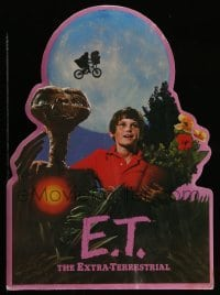 3y006 E.T. THE EXTRA TERRESTRIAL die-cut standee '82 Spielberg classic, best bike over moon image!
