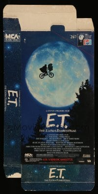3y007 E.T. THE EXTRA TERRESTRIAL video display R88 Spielberg classic, best bike over moon image!