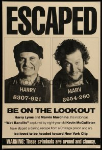 3y009 HOME ALONE 2 standee '92 wanted poster with Joe Pesci & Daniel Stern, Lost in New York!