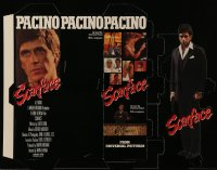 3y003 SCARFACE die-cut mini standee '83 Al Pacino as Tony Montana, De Palma, Oliver Stone, differen