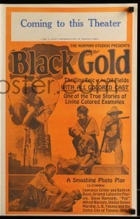 3y043 BLACK GOLD pressbook '27 exact full-size image of the 14x22 window card!