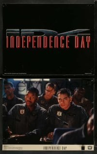 3z021 INDEPENDENCE DAY 9 color 11x14 stills '96 Will Smith, Bill Pullman, Jeff Goldblum, sci-fi!