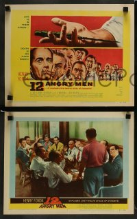 3z026 12 ANGRY MEN 8 LCs '57 Henry Fonda, Sidney Lumet classic, great images of key scenes!