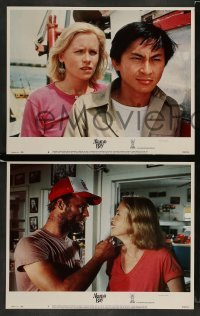 3z032 ALAMO BAY 8 LCs '85 Vietnam veteran Ed Harris & Amy Madigan, directed by Louis Malle!