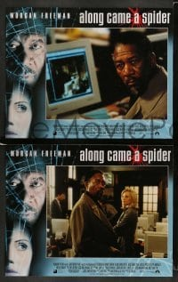3z035 ALONG CAME A SPIDER 8 LCs '01 Morgan Freeman & Monica Potter, Kiss the Girls sequel!