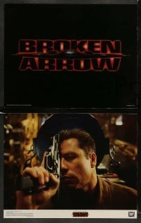 3z016 BROKEN ARROW 9 color 11x14 stills '96 John Travolta, Christian Slater, directed by John Woo!