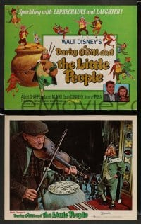 3z018 DARBY O'GILL & THE LITTLE PEOPLE 9 LCs R69 Disney, Sean Connery, it's leprechaun magic!