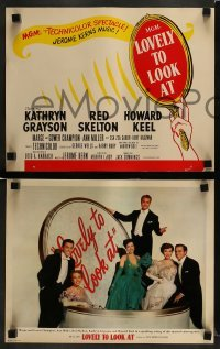 3z022 LOVELY TO LOOK AT 9 photolobbies '52 Kathryn Grayson, Red Skelton, Ann Miller, ultra rare!