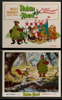 3z025 ROBIN HOOD 9 LCs '73 Walt Disney's cartoon version, the way it REALLY happened!