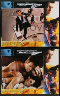 3z005 WORLD IS NOT ENOUGH 12 LCs '99 Pierce Brosnan as James Bond, Denise Richards, Marceau