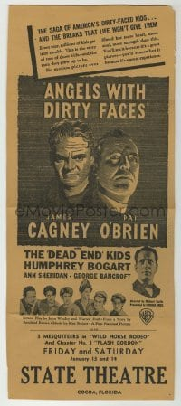 4a020 ANGELS WITH DIRTY FACES herald '38 James Cagney, Humphrey Bogart, Pat O'Brien, Dead End Kids