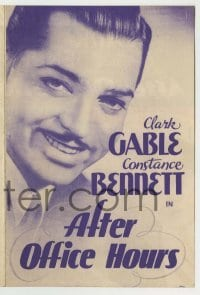 4a012 AFTER OFFICE HOURS herald '35 Clark Gable had his way with pretty Constance Bennett!
