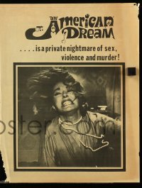 4a017 AMERICAN DREAM herald '66 Norman Mailer, Janet Leigh, a private nightmare of sex & violence!
