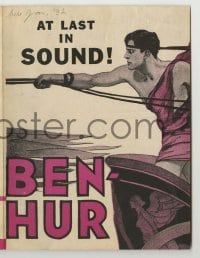 4a027 BEN-HUR herald R31 Ramon Novarro, Betty Bronson & May McAvoy, at last in sound, cool art!