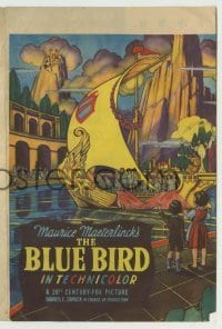 4a035 BLUE BIRD herald '40 Shirley Temple in 20th Century-Fox's answer to The Wizard of Oz!
