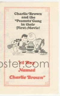 4a038 BOY NAMED CHARLIE BROWN herald '70 art of Snoopy & the Peanuts gang by Charles M. Schulz!