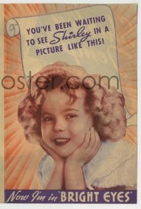 4a040 BRIGHT EYES herald '34 you've been waiting to see Shirley Temple in a picture like this!
