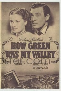 4a004 HOW GREEN WAS MY VALLEY Australian herald '42 John Ford's Best Picture of 1941, different!