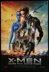 4b021 X-MEN: DAYS OF FUTURE PAST style A teaser DS Canadian 1sh '14 Lawrence, Jackman, Page, & cast