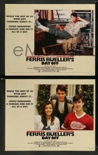 4k001 FERRIS BUELLER'S DAY OFF 8 English LCs '86 Matthew Broderick in John Hughes teen classic!