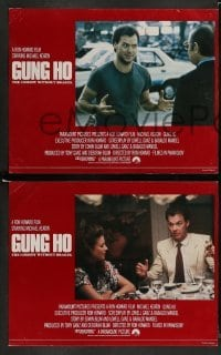 4k006 GUNG HO 8 English LCs '86 great images of Michael Keaton, Ron Howard directed!