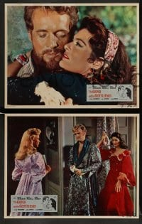 4k007 GYPSY & THE GENTLEMAN 8 English LCs '58 sexy Melina Mercouri, Joseph Losey!