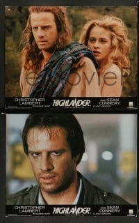 4k002 HIGHLANDER 13 English LCs '86 Christopher Lambert, Sean Connery, Roxanne Hart!