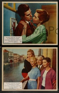 4k008 IT HAPPENED IN ROME 8 English LCs '57 Antonio Pietrangeli's Souvenir d'Italie, top stars