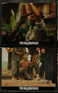 4k015 KILLING FIELDS 7 English LCs '84 Sam Waterston, John Malkovich, Cambodian Civil War!