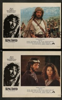 4k009 KING DAVID 8 English LCs '85 great image of Richard Gere as King David, Biblical epic!