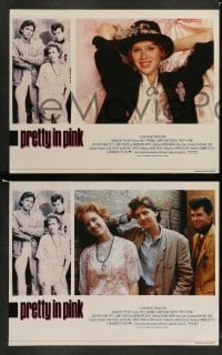 4k012 PRETTY IN PINK 8 English LCs '86 great images of Molly Ringwald, Andrew McCarthy & Jon Cryer!