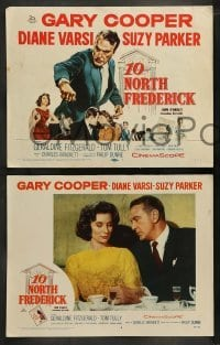 4k035 10 NORTH FREDERICK 8 LCs '58 cool images of Gary Cooper, sexy Diane Varsi, Stuart Whitman!