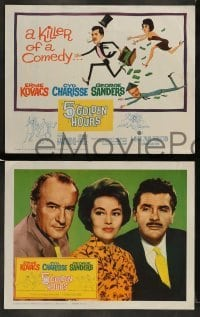 4k038 5 GOLDEN HOURS 8 LCs '61 wacky title card art of Ernie Kovacs, Cyd Charisse & George Sanders!