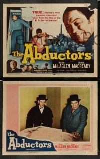 4k039 ABDUCTORS 8 LCs '57 Victor McLaglen, George Macready, history's most amazing crime plot!