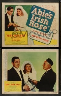 4k041 ABIE'S IRISH ROSE 8 LCs '46 Joanne Dru, Anne Nichols, most riotous, romantic hit!